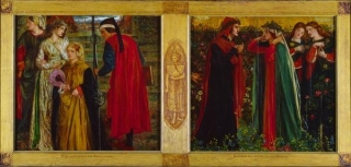 The Salutation of Beatrice  (1859 )by Dante Gabriel Rossetti  National Gallery of Canada