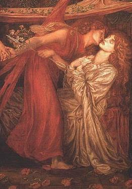 Dante's Dream at the Time of the Death of Beatrice(detail) by Dante Gabriel Rossetti