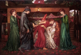 Dante's Dream at the Time of the Death of Beatrice(1880) by Dante Gabriel Rossetti McManus Galleries