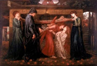Dantes Dream at the Time of the Death of Beatrice��1871��Walker Art Gallery by Dante Gabriel Rossetti
