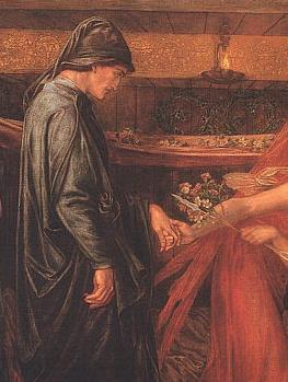 Dantes Dream at the Time of the Death of Beatrice(detail) by Rossetti