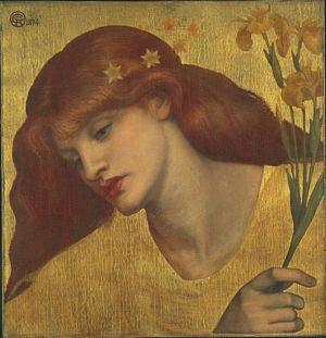 Sancta Lilias 1874 by Dante Gabriel Rossetti Tate
