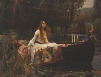 画像をクリックしてください。The Lady of Shalott 1888年 Tate Britain