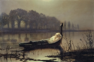 John Atkinson Grimshaw - The Lady of Shalott (1875) Yale Center for British Art, Paul Mellon Collection
