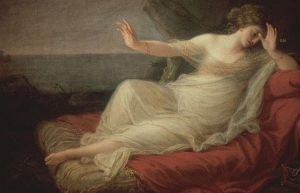 Ariadna abandonada by Theseus. Angelica Kauffmann (1774)  Museo de Bellas Artes. Houston