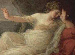 Ariadna abandonada by Theseus. Angelica Kauffmann (1774) -sai