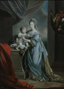Princess Augusta Charlotte (1737-1813), Eldest Sister of George III, with Her Infant Son