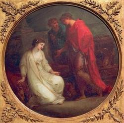 Augustus und Kleopatra-Angelica Kauffmann