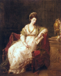 Portrait of Louise Henrietta Campbell, Later Lady Scarlett, as The Muse of Literature