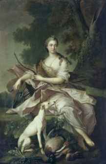 STUDIO OF JEAN-MARC NATTIER PORTRAIT OF A LADY IN THE GUISE OF DIANA
