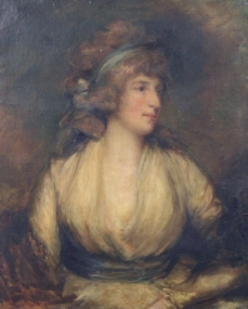 Portrait of Mrs Maria Fitzherbert, wife of George IV George Romney ?