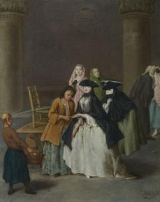 A Fortune Teller at Venice 1756 Pietro Longhi The National Gallery, London