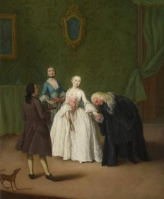 A Nobleman kissing a Ladys Hand about 1746, Pietro Longhi The National Gallery, Trafalgar Square, London