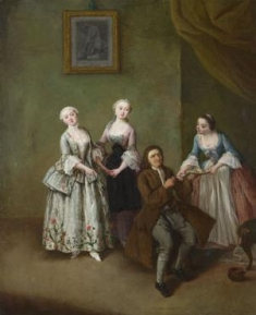 An Interior with Three Women and a Seated Man probably 1750-5, Pietro Longhi The National Gallery, London