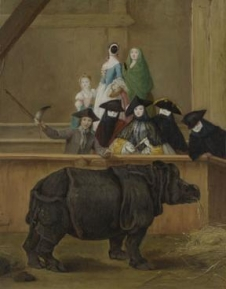 Exhibition of a Rhinoceros at Venice probably 1751, Pietro Longhi The National Gallery,London