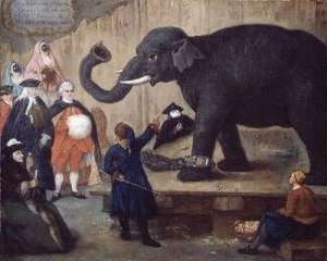 The Display of the Elephant 1774 Pietro Longhi  The Museum of Fine Arts, Houston