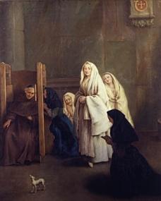 La Confessione 1755-57 Pietro Longhi Querini Stampalia Foundation Museum