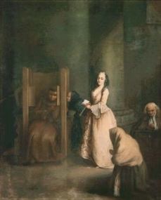 Virtual Uffizi The Confession Pietro Longhi