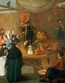 Pietro Longhi  Il casotto del leone 1762 Querini Stampalia Foundation Museum