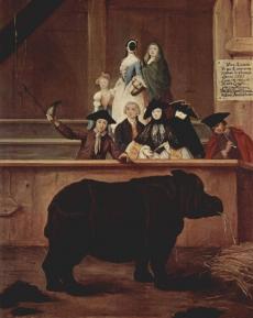 Das Rhinozeros 1751 Pietro Longhi Venedig, Ca-Rezzonico