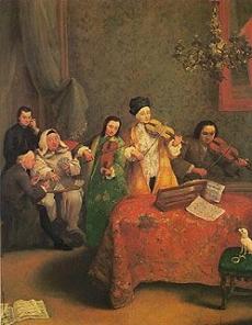 IL CONCERTO Pietro Falca detto Longhi Gallerie dell'Accademia, Venice