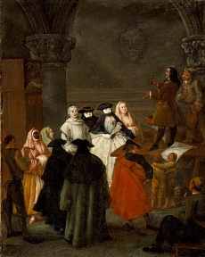 Pietro Longhi The Quack Doctor  after 1763 Los Angeles County Museum of Art