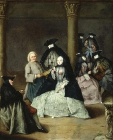 Masked Party in a Courtyard-1755-Saint Louis Art Museum