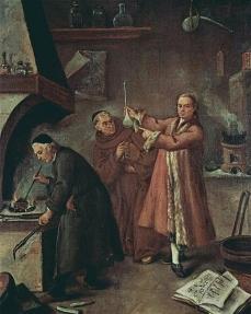 Pietro Longhi.Die Alchemisten c. 1757 Ca Rezzonico.