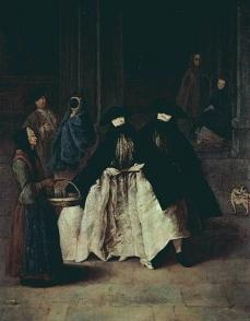 Pietro Longhi Die Verkauferin der Essenzen  c. 1756 Ca Rezzonico