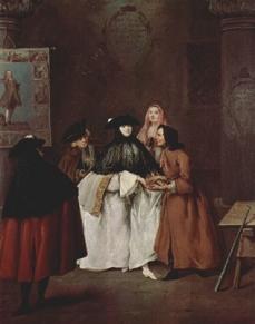Die Wahrsagerin von Pietro Longhi c. 1752  Ca Rezzonico