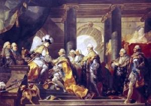 Louis XVI recoit a Reims les hommages des chevaliers du Saint-Spirit, 13 juin 1775