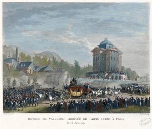 Retour de Varennes. Arrivée de Louis Seize à Paris, le 25 juin 1791 Jean Duplessis-Bertaux (1750-1818),