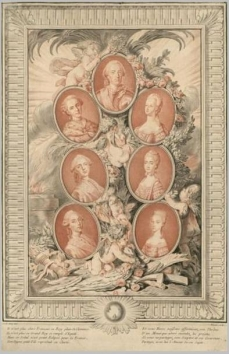 Grandsons of Louis XV and their wives circa 1775