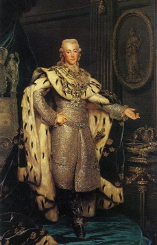 Gustav III (1746-1792), King of Sweden, in coronation-robes 1777 Nationalmuseum
