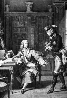 Voltaire with Frederick the Great of Prussia