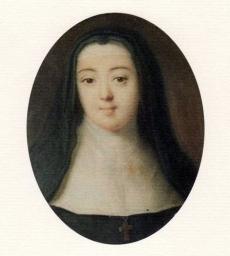 Anne-Prospère de Launey, chanoinesse séculière chez les bénédictines, jeune belle-sœur de dix-neuf ans du marquis de Sade avec lequel elle aura une liaison violente et passionnée