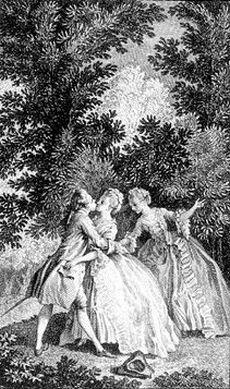 Julie embrasse Saint-Preux (Nouvelle Heloise, Londres [1781] fig1) - Marillier