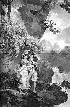 Julie et Saint-Preux a Meillerie - Wheatley 1788