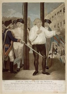 Execution of Louis XVI: Last Words of the King to His People, 1793