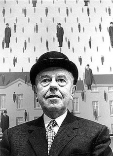 Rene Magritte, Museum of Modern Art, New York 1965 by Steve Schapiro