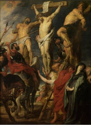 Christus aan het kruis, De lanssteek