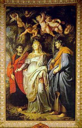 Santa Domitilla Nereo and Achilleo-Peter Paul Rubens-Santa Maria in Vallicella Rome Italy
