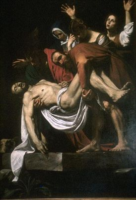 CaravaggioEntombment-Entombment, from the Vittrici Chapel, Church of Santa Maria in Vallicella-2