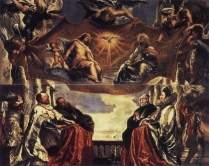 The Gonzaga Family Worshipping the Holy Trinity by Peter Paul Rubens, 1604-1605