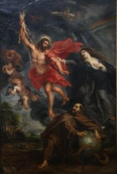 Lintercession de la Vierge et de saint Francois arretant les foudres divines-Musees royaux des Beaux-Arts de Belgique