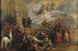Les miracles de St Benoit   Delacroix