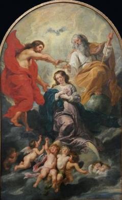 Le Couronnement de la Vierge - Rubens - Musees royaux des Beaux-Arts de Belgique-2