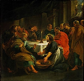 Christ washing the apostles feet. 1632 Musee des Beaux-Arts, Dijon, France