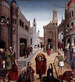 Nicolas Froment. La Légende de saint Mitre