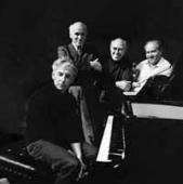 Herbert von Karajan, Sviatoslav Richter, Mstilav Rostropovich and David Oistrakh